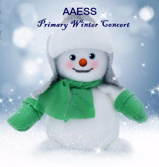 Primary Winter Concert Timings – Sunday 9 December